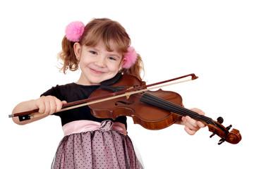 Wall Mural - little girl play violin