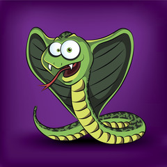 Funny cartoon cobra