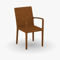 3d render of restaurant chair