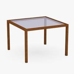 3d render of  restaurant table