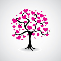 tree from hearts