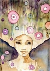 magiczny portret młodej dziewczyny
