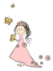 Fairy spring girl