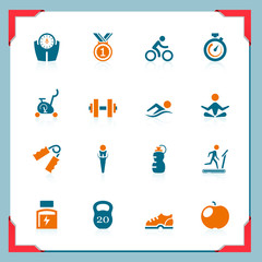 Fitness icons | In a frame series