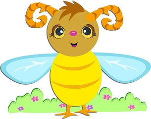 Bee with Horns