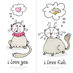 Cats love card