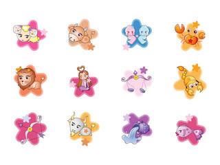 0706 Playful Zodiac Icons