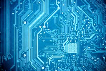 blue circuit board