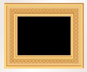 blank gold baroque