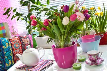Blumen und Deko
