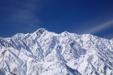 Mt. Goryudake, snow covered mountain in nagano japan