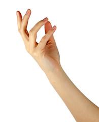 Female gesturing hand
