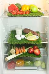 Kühlschrank und Lebensmittel - refrigerator and food