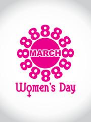 Creative women's day design element. vector illustration