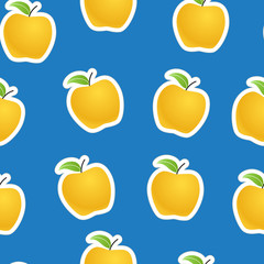 Apples seamless background