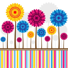 Wall Mural - Flowers