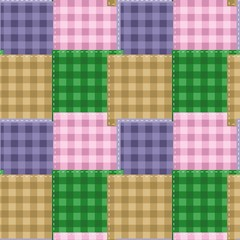 seamless background with patchwork
