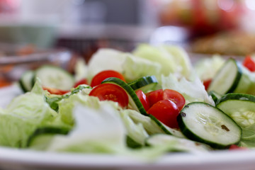 Lettuce Cucumber Tommy Tomatoes Salad