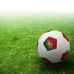 Portugal flag on 3d Football