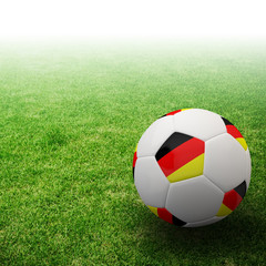Germany flag on 3d football