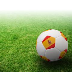 Spain flag on 3d football