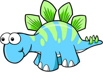 Silly Stegosaurus Dinosaur Vector