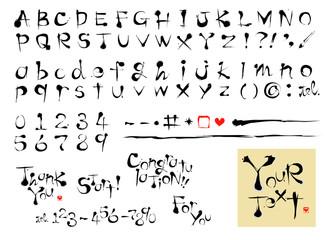 墨 アルファベット