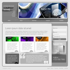 Gray Website Template 960 Grid.