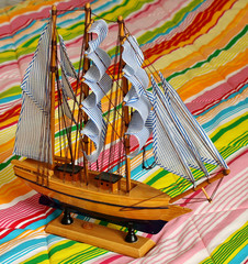 Model of the sailing ship