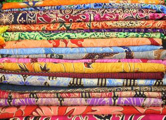 Colourful market cloths
