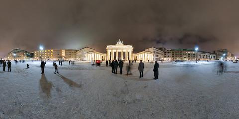Brandenburg Gate and Pariser Platz in Berlin, Germany.