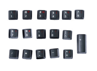 à black keyboard key