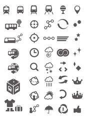 交通、天気など生活周辺のイメージシンボル