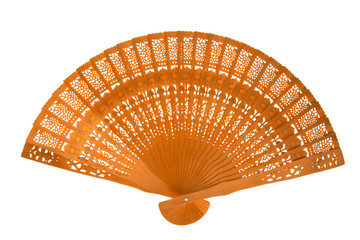 Wooden orange fan