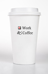 White Paper Cup With Text Concept