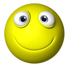 cartoon smiley ball