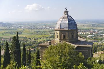 Cortona, historic church