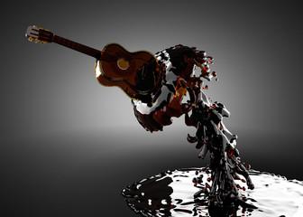 Guitar in water