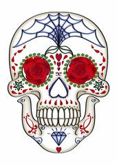Mexikanischer Sugar-Skull, weiß