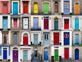 32 front doors horizontal collage