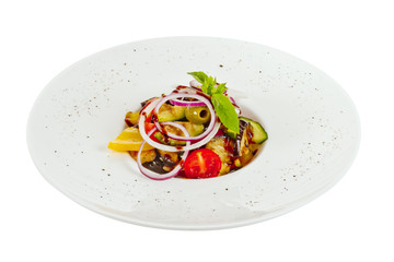 Grilled vegetables (zucchini, eggplant, onions, peppers, asparag