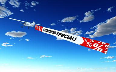 Flugzeug mit Banner - Summer Special!