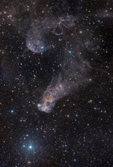 "An oddly shaped ""question mark"" Nebula in Orion"