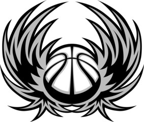 Basketball Template with Wings...