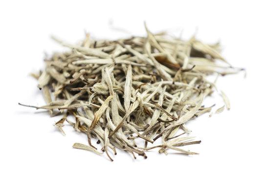 Tea - white tea leaves