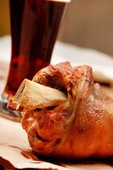 pork shank glazed with beer