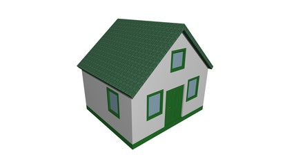 Illustration of a 3D house