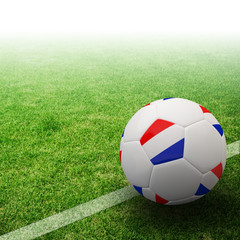 Netherlands flag on 3d football