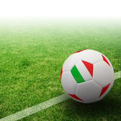 Italy flag on 3d football