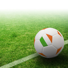 Ireland flag on 3d football